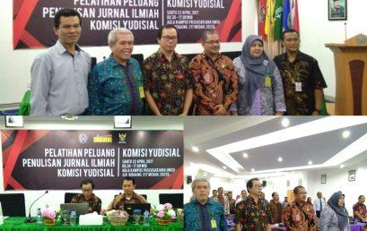 Pelatihan Peluang Penulisan Jurnal Ilmiah Komisi Yudisial Republik Indonesia