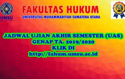 JADWAL UJIAN (UAS) GENAP T.A 2019/2020 ONLINE