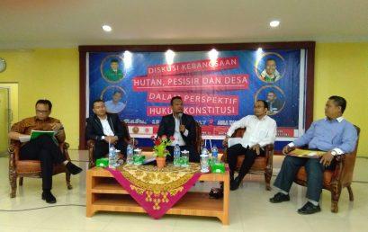 Diskusi Kebangsaan, Hutan, Pesisir dan Desa Dalam Perspektif Hukum Konstitusi