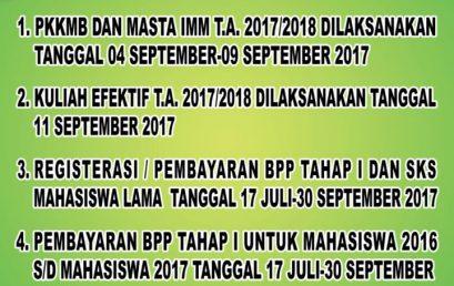 Sekilas Info Akademik TA.2017/2018