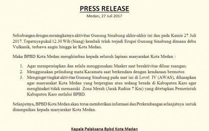 Sekilas Info BPBD Kota Medan