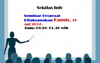 Sekilas Info Seminar Proposal