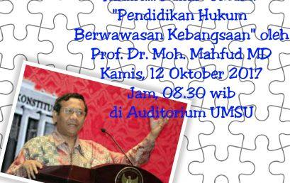 Kuliah Umum oleh Prof. Dr. Moh. Mahfud MD