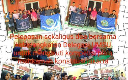 Pelepasan sekaligus doa bersama keberangkatan Delegasi Fahum UMSU