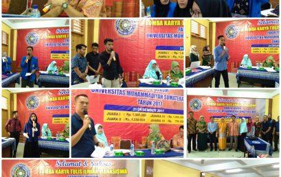 Lomba Karya Tulis Ilmiah Mahasiswa Fakultas Hukum UMSU Tahun 2017