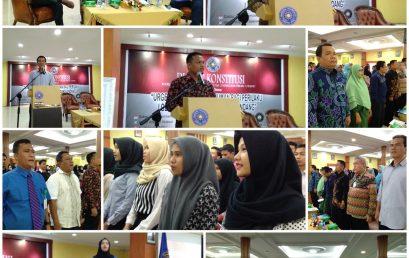 Dialog Konstitusi Kerjasama Fakultas Hukum UMSU dengan PKSK UMSU