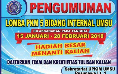 Lomba PKM 5 Bidang Internal UMSU