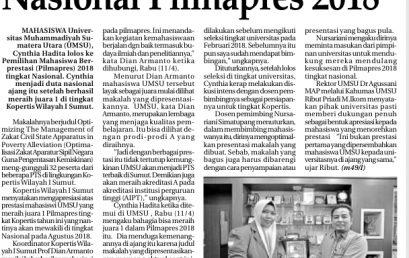 Mahasiswa UMSU Duta Nasional Pilmapres 2018