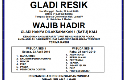 WISUDA & GLADI RESIK UMSU PERIODE I TAHUN 2019