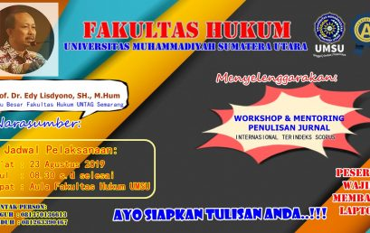 WORKSHOP & MENTORING PENULISAN JURNAL Internasional Terindeks Scopus