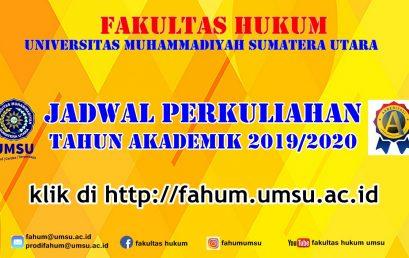 JADWAL PERKULIAHAN T.A 2019/2020