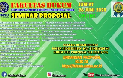 UNDANGAN SEMINAR PROPOSAL JUM'AT, 26 JUNI 2020 ONLINE
