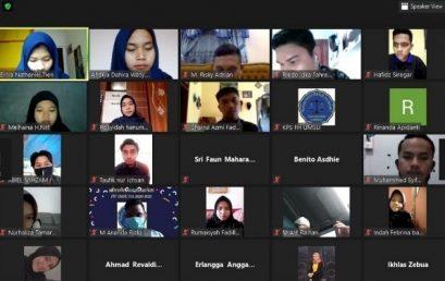 Komunitas Peradilan Semu Fakultas Hukum UMSU Sukses Gelar Mubes Via Aplikasi Zoom Meeting