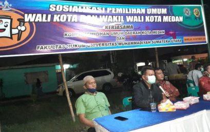 KPU Medan Bersama Fakultas Hukum (FH-UMSU) Gelar Sosialisasi Pilkada Serentak 2020 di Marelan